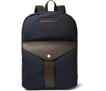 Full-grain Leather And Nylon Backpack