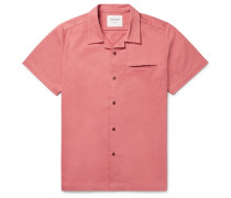 Pharcyde Camp-collar Brushed Cotton-twill Shirt