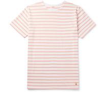Striped Cotton-jersey T-shirt - Pink