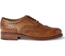 Stanley Leather Wingtip Brogues - Tan