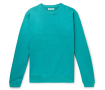 Coach Garment-dyed Loopback Cotton-jersey Sweatshirt - Turquoise