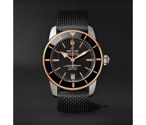 Superocean Héritage II B20 Automatic 42mm Stainless Steel, Red Gold and Rubber Watch, Ref. No. UB2010121B1S1