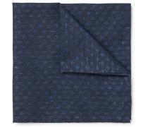 Deacon Cotton And Linen-blend Jacquard Pocket Square