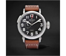 Pilot Type 20 Gmt 48mm Stainless Steel And Leather Watch