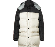 Webbing-trimmed Quilted Shell Hooded Down Jacket - Black