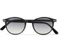 Round-frame Acetate Sunglasses