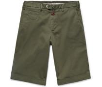 Slim-fit Stretch-cotton Twill Bermuda Shorts - Army green