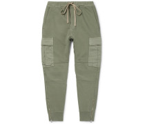 Garment-dyed Loopback Cotton-jersey Sweatpants