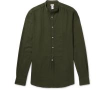 Grandad-collar Modal And Cotton-blend Shirt