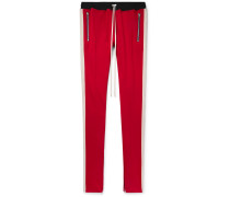 Slim-fit Tapered Striped Jersey Drawstring Trousers