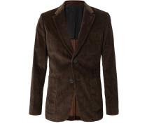 Brown Cotton-corduroy Blazer