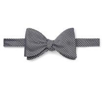 Pre-tied Puppytooth Silk-jacquard Bow Tie - Gray