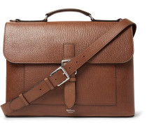 Chiltern Pebble-grain Leather Briefcase - Brown