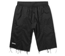 + Reebok Slim-fit Frayed Shell Shorts