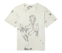 Eastlake Distressed Printed Cotton-Jersey T-Shirt