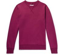 Loopback Cotton-jersey Sweatshirt - Plum