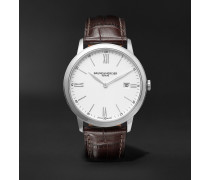 Classima Quartz 40mm Steel and Croc-Effect Leather Watch, Ref. No. M0A10508