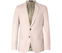 Light-pink Soho Slim-fit Wool And Mohair-blend Suit Jacket - Pink