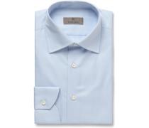White Slim-Fit Cotton-Twill Shirt