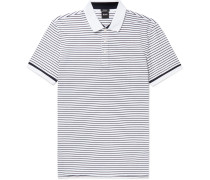 Parlay Striped Cotton-piqué Polo Shirt - Blue