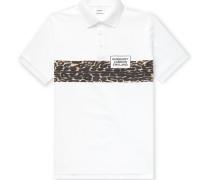 Leopard-Print Cotton-Piqué Polo Shirt
