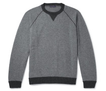 Contrast-trimmed Cashmere And Virgin Wool-blend Sweater