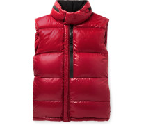 Alrance Quilted Shell Hooded Down Gilet - Red