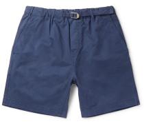 Mountain Cotton-twill Shorts - Navy
