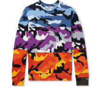 Camouflage-print Loopback Cotton-blend Jersey Sweatshirt