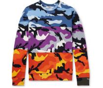 Camouflage-print Loopback Cotton-blend Jersey Sweatshirt - Multi