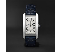 Tank Américaine Automatic 45mm Steel And Alligator Watch - White