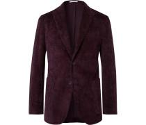 Plum K-Jacket Unstructured Cotton-Blend Corduroy Blazer