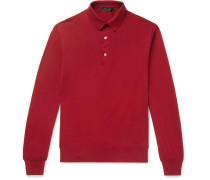 Knitted Cotton Polo Shirt