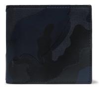 Valentino Garavani Camouflage-Print Canvas And Leather Billfold Wallet
