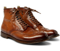 Anatomia Burnished-leather Brogue Boots
