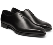 + George Cleverley Merlin Whole-cut Leather Oxford Shoes - Black