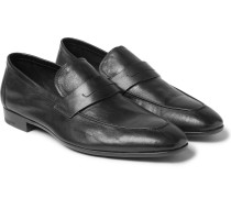 Lorenzo Leather Loafers - Black