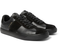 Levon Leather And Suede Sneakers