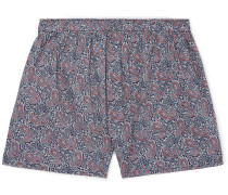 Paisley-Print Cotton Boxer Shorts