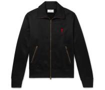 Logo-Appliquéd Fleece-Back Jersey Track Jacket