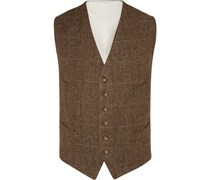 Brown Herringbone Wool Waistcoat