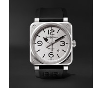 BR 03-92 Horoblack Automatic 42mm Steel and Rubber Watch