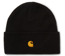 Chase Logo-Embroidered Ribbed-Knit Beanie