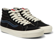 Og Sk8-hi Lx Leather-trimmed Canvas And Suede High-top Sneakers - Black