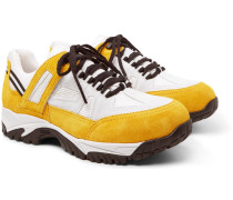 Sms Suede And Mesh Sneakers - Yellow