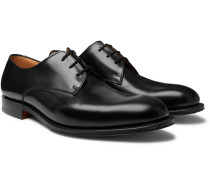 Oslo Polished-leather Derby Shoes - Black