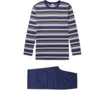 Striped Cotton-Jersey Pyjama Set