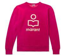 Mikeli Logo-Appliquéd Fleece-Back Cotton-Blend Jersey Sweatshirt