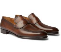 Cuir Brulé Venezia Leather Penny Loafers
