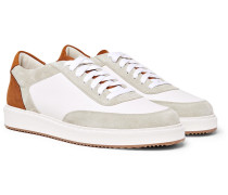 Icaro Ii Full-grain Leather, Nubuck And Suede Sneakers